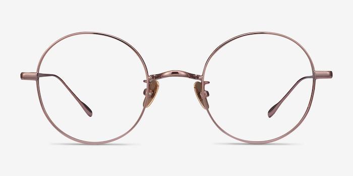Berlioz Rose Gold Titanium Eyeglass Frames from EyeBuyDirect, Front View