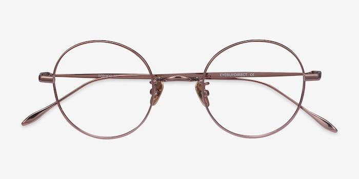 Berlioz Rose Gold Titanium Eyeglass Frames from EyeBuyDirect, Closed View