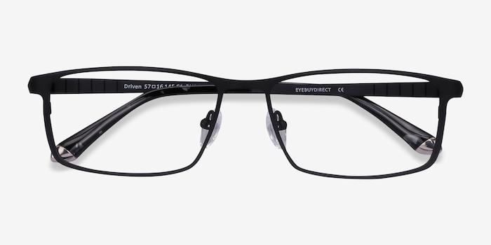 Driven Noir Titane Montures de Lunettes d'EyeBuyDirect, Vue Rapprochée