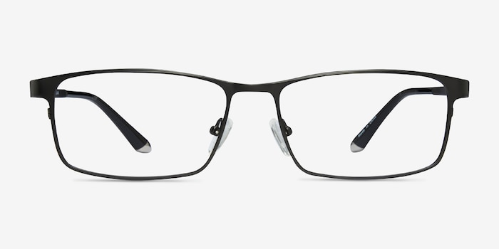 Kept Black Titanium Eyeglass Frames from EyeBuyDirect, Front View