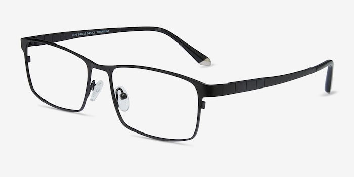 Kept Black Titanium Eyeglass Frames from EyeBuyDirect, Angle View