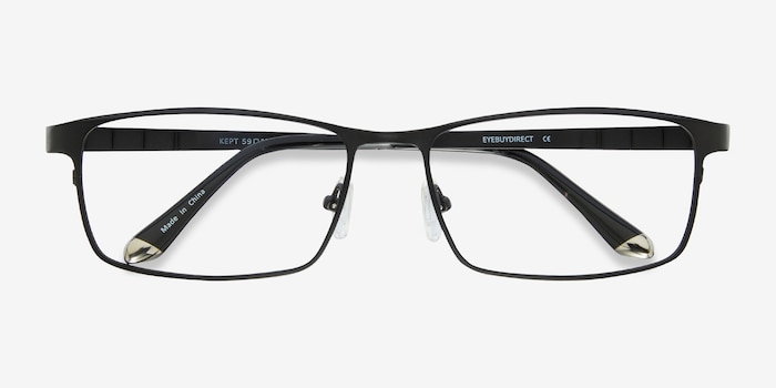 Kept Black Titanium Eyeglass Frames from EyeBuyDirect, Closed View