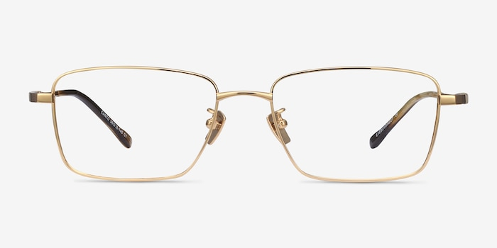 Canto Golden Titanium Eyeglass Frames from EyeBuyDirect, Front View
