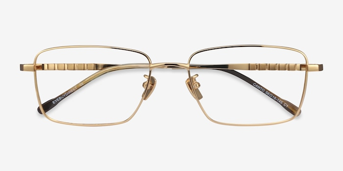 Canto Golden Titanium Eyeglass Frames from EyeBuyDirect, Closed View