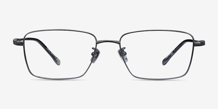 Canto Gunmetal Titanium Eyeglass Frames from EyeBuyDirect, Front View