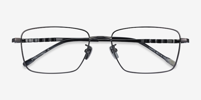 Canto Gunmetal Titanium Eyeglass Frames from EyeBuyDirect, Closed View