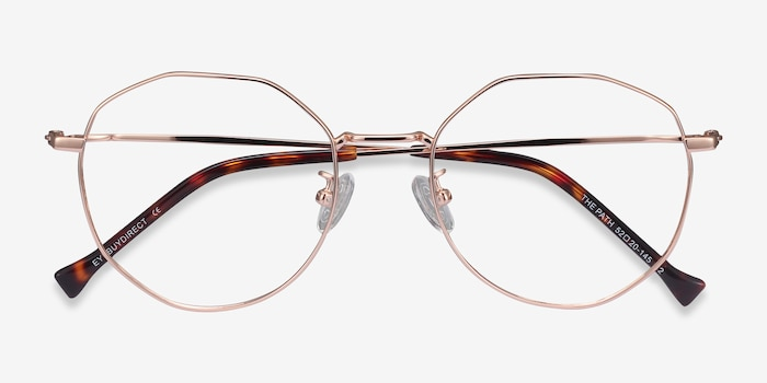 The Path Rose Gold Titanium Eyeglass Frames from EyeBuyDirect, Closed View