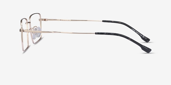 Lands Golden Titanium Eyeglass Frames from EyeBuyDirect, Side View