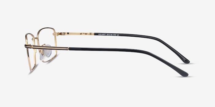 Holmst Golden Titanium Eyeglass Frames from EyeBuyDirect, Side View