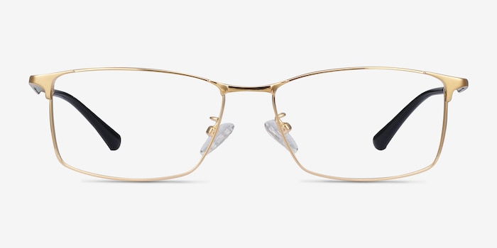 Constant Gold Titanium Eyeglass Frames from EyeBuyDirect, Front View
