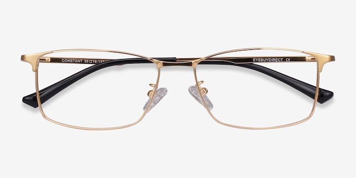 Constant Gold Titanium Eyeglass Frames from EyeBuyDirect, Closed View
