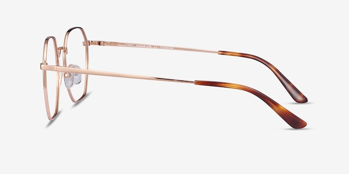 Comet Rose Gold Titanium Eyeglass Frames from EyeBuyDirect, Side View
