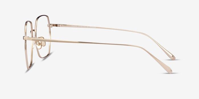 Holistic Gold Titanium Eyeglass Frames from EyeBuyDirect, Side View