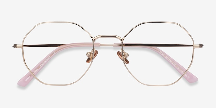 Cecily Gold Titanium Eyeglass Frames from EyeBuyDirect, Closed View