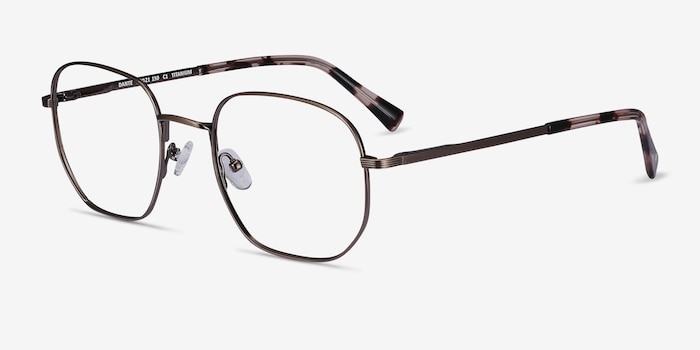 Dante Bronze Titanium Eyeglass Frames from EyeBuyDirect, Angle View