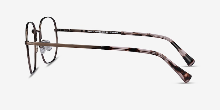 Dante Bronze Titanium Eyeglass Frames from EyeBuyDirect, Side View