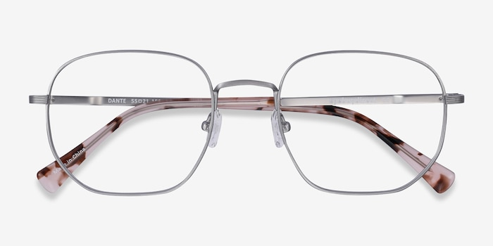 Dante Gunmetal Titanium Eyeglass Frames from EyeBuyDirect, Closed View