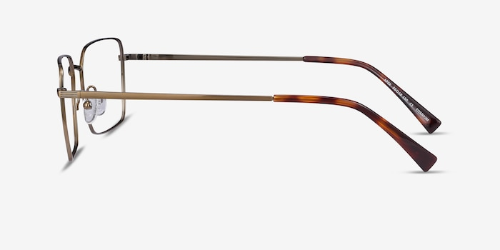 Apex Bronze Titanium Eyeglass Frames from EyeBuyDirect, Side View
