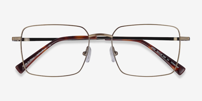 Apex Bronze Titanium Eyeglass Frames from EyeBuyDirect, Closed View