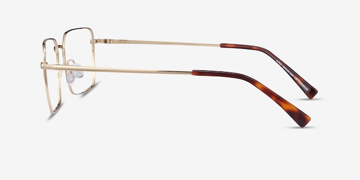 Apex Gold Titanium Eyeglass Frames from EyeBuyDirect, Side View