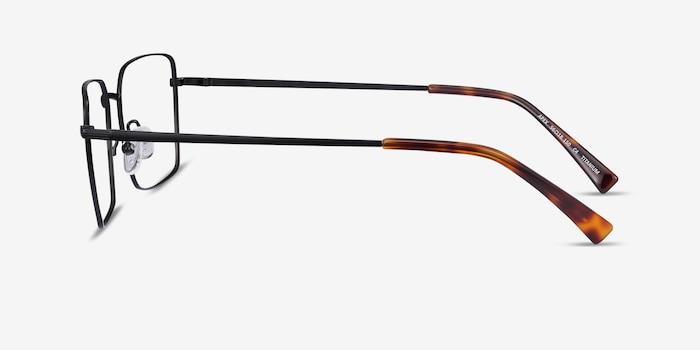 Apex Black Titanium Eyeglass Frames from EyeBuyDirect, Side View