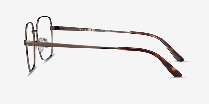 East Bronze Titanium Eyeglass Frames from EyeBuyDirect, Side View