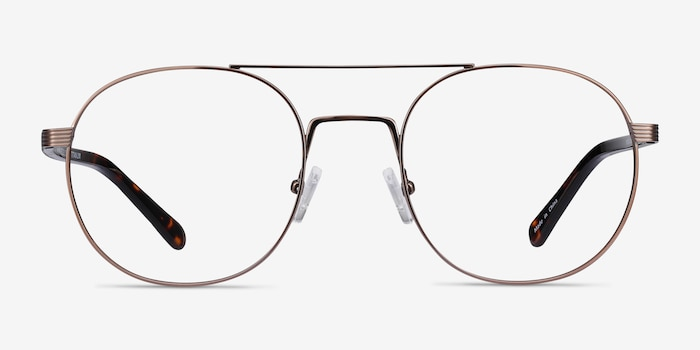 Gordon Bronze Acetate Eyeglass Frames from EyeBuyDirect, Front View