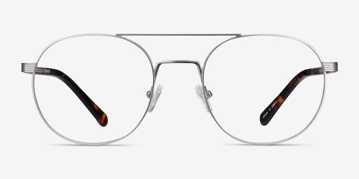 Gordon Silver Acetate Eyeglass Frames from EyeBuyDirect, Front View