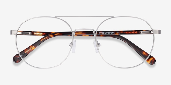 Gordon Silver Titanium Eyeglass Frames from EyeBuyDirect, Closed View