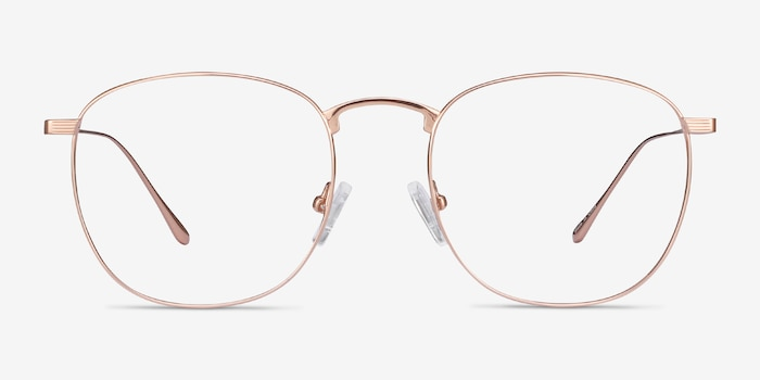Arbor Rose Gold Titanium Eyeglass Frames from EyeBuyDirect, Front View