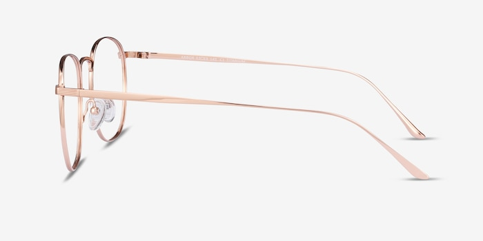 Arbor Rose Gold Titanium Eyeglass Frames from EyeBuyDirect, Side View
