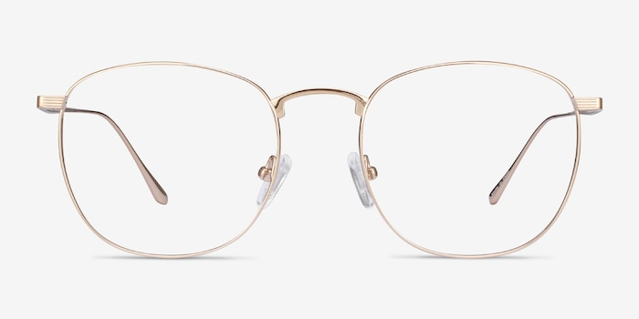 Arbor Gold Titanium Eyeglass Frames from EyeBuyDirect, Front View