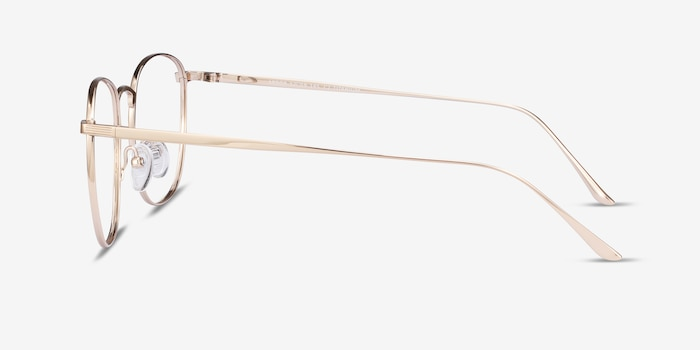 Arbor Gold Titanium Eyeglass Frames from EyeBuyDirect, Side View