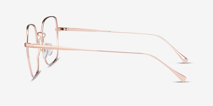 Meteor Rose Gold Titanium Eyeglass Frames from EyeBuyDirect, Side View