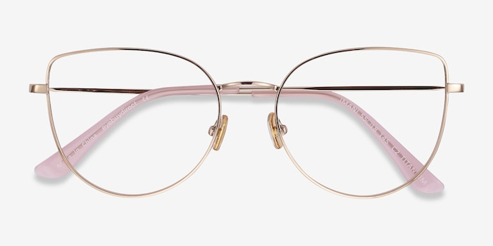 Imani Gold Titanium Eyeglass Frames from EyeBuyDirect, Closed View