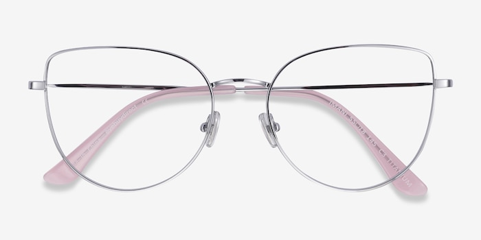 Imani Silver Titanium Eyeglass Frames from EyeBuyDirect, Closed View