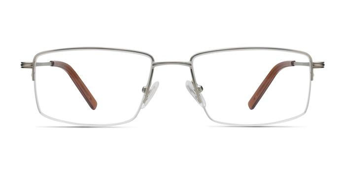 System Silver Metal Eyeglass Frames from EyeBuyDirect