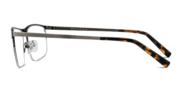 Wayne Gunmetal Silver Metal Eyeglass Frames from EyeBuyDirect