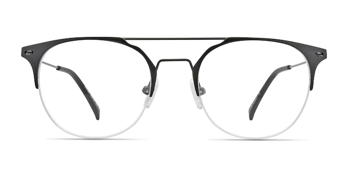 Ascent Black Metal Eyeglass Frames from EyeBuyDirect
