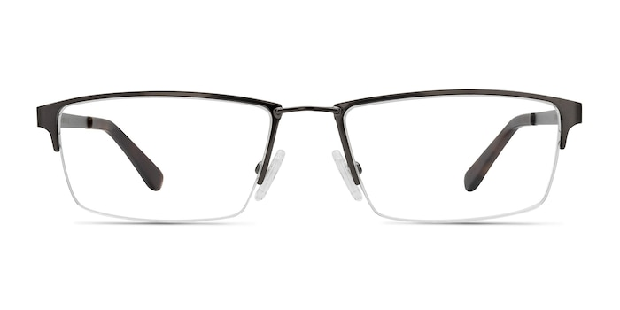Bowler Gunmetal Metal Eyeglass Frames from EyeBuyDirect