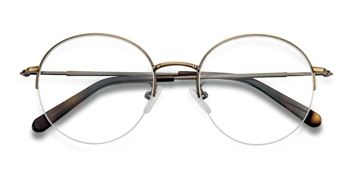 Bronze Albee -  Lightweight Metal Eyeglasses