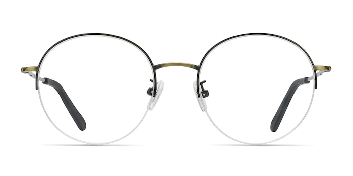 Albee Black Bronze Metal Eyeglass Frames from EyeBuyDirect