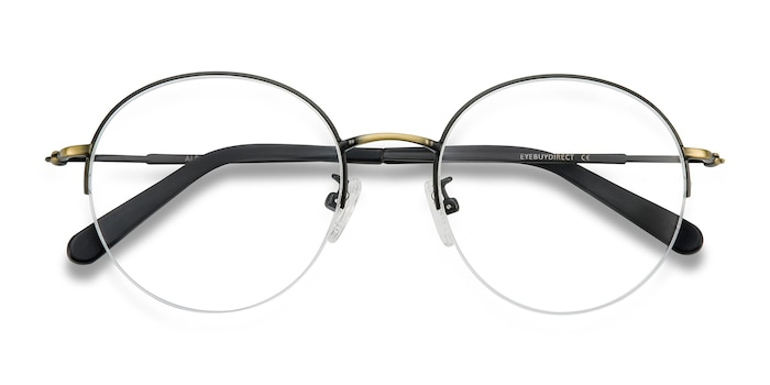 Black Bronze Albee -  Vintage Metal Eyeglasses