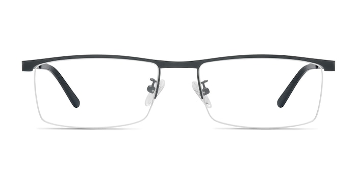 Chute Black Metal Eyeglass Frames from EyeBuyDirect