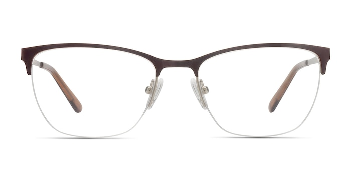 Lille Brown Metal Eyeglass Frames from EyeBuyDirect