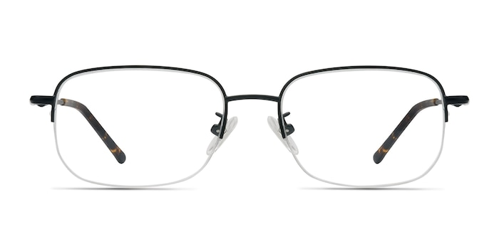 Munroe Black Metal Eyeglass Frames from EyeBuyDirect
