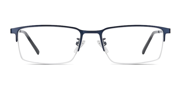 Vienna Navy Metal Eyeglass Frames from EyeBuyDirect