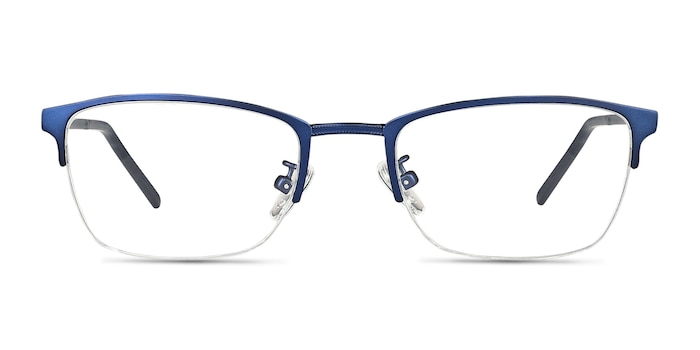 Argil Matte Navy Metal Eyeglass Frames from EyeBuyDirect