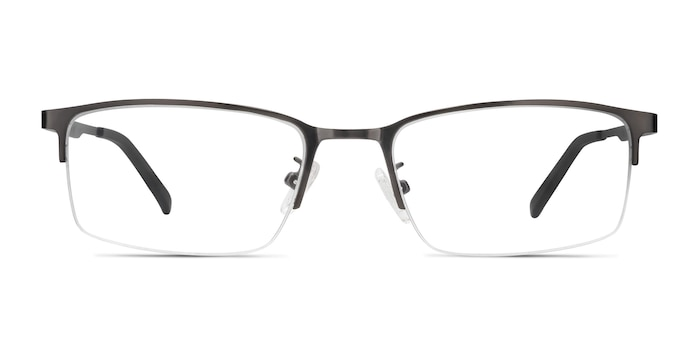 Bezel Dark Charcoal Metal Eyeglass Frames from EyeBuyDirect