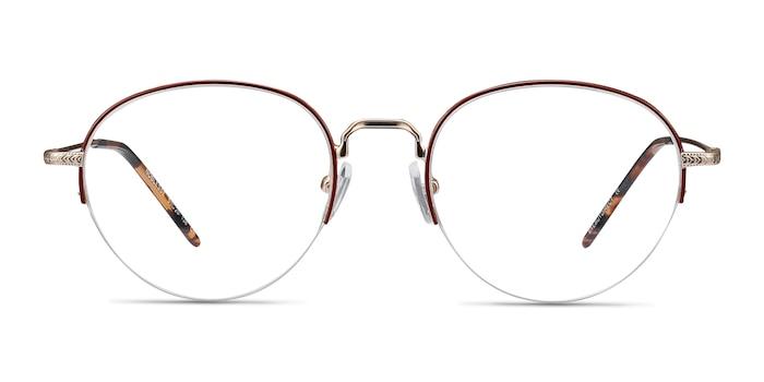 Noblesse Red Metal Eyeglass Frames from EyeBuyDirect